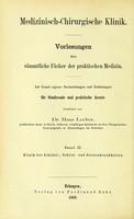 view Die chirurgischen und medizinischen Krankheiten des Schädels und Gehirns und Psychiatrische Klinik / von Hans Locher.