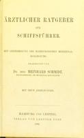 view Ärztlicher Ratgeber für Schiffsführer : mit Genehmigung des Hamburgischen Medizinal-Kollegiums / bearbeitet von Meinhard Schmidt.