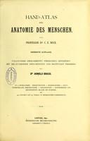 view Hand-Atlas der Anatomie des Menschen / von C.E. Bock.