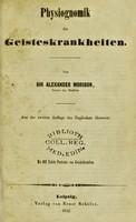 view Physiognomik der geisteskrankheiten / Sir Alexander Morison.