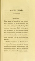 view Sound mind, or, Contributions to the natural history and physiology of the human intellect / by John Haslam.