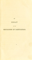 view An essay on the mechanism of parturition / from the German of C.F. Naegelè. By Edward Rigby.