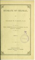 view Hydrate of chloral / by Charles W. Parsons.