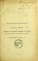 view The New Zealand War of 1863-64-65 : special report on wounds and injuries received in battle / by Inspector-General Mouat.