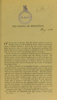 view The gospel of evolution.