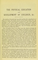 view The physical education and development of children, in theory and practice : for schools and families : intended to show those interested in the welfare of children that the body should be cultivated and developed with the mind, and pointing out the most approved means of attaining that end / by W.H. St. Ruth.