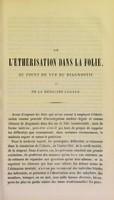 view De l'éthérisation dans la folie : au point de vue diagnostic et de la médecine légale / par A. Morel.
