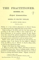 view Oedema in Graves' disease / by Arthur Maude.