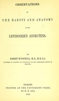 view Observations on the habits and anatomy of the Lepidosiren annectens / by Robert M'Donnell.