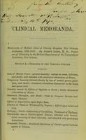 view Clinical memoranda.