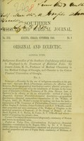 view Indigenous remedies of the Southern Confederacy which may be employed in the treatment of malarial fever / by Joseph Jones.