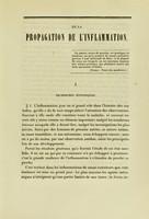 view De la propagation de l'inflammation : quelques propositions sur les tumeurs dites cancéreuses : thèse pour le doctorat en médecine, présentée et soutenue le 16 avril 1849 / par Paul Broca.