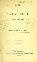 view Case of catalepsy : with remarks / by James Stark.
