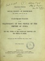 view Contributions to the craniology of the people of the empire of India / by Sir Wm. Turner.