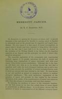 view Heredity, cancer / by E.F. Bashford.