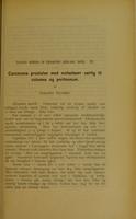 view Carcinoma prostatae med metastaser særlig til columna og peritoneum / af Asbjørn Nilssen.