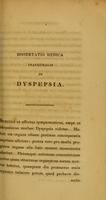 view Dissertatio medica inauguralis quaedam de dyspepsia complectens ... / eruditorum examini subjicit Franciscus Marchant.