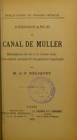 view Persistance du canal de Muller : hydronéphrose du rein et de l'uretère droits, pyélo-néphrite calculeuse du rein gauche très hypertrophié / par M. le Dr Reliquet.