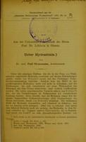 view Ueber Hydrastinin / von Paul Strassmann.