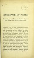 view Extempore hospitals / [William Augustus Guy].