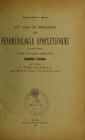 view Un caso di epilessia con fenomenologia apopletiforme trattato colla terapia organica (neuroprina e cefalopina) / C. Trevisanello.