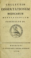 view Collectio dissertationum medicarum Marburgensium.