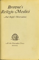view Religio medici. And, Digby's Observations.