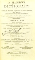 view Dictionary of mineral waters, climatic health resorts, sea baths, and hydropathic establishments.