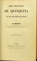 view Traite therapeutique de quinquina et de ses preparations / par P. Briquet.