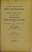 view Gicht und Psychose / Ludwig Haeusser.