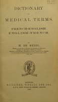 view Dictionary of medical terms / by H. de Meric.
