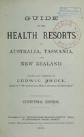 view Guide to health resorts in Australia, Tasmania, and New Zealand.