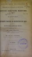 view Rapport sur différents procédés de destruction des rats et de désinfection a bord des navires / présenté par M. Proust et Paul Faivre.
