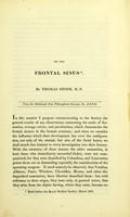 view Memoir of the frontal sinus.