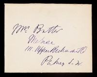 view Papers relating to John Bell Butler