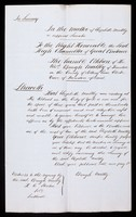 view Papers relating to Elizabeth Maltby