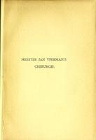 """view De """"Cyrurgie"""" van Meester Jan Yperman / naar de handschriften van Brussel, Cambridge, Gent en Londen uitgegeven van E. C. van Leersum."""
