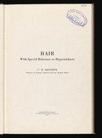 view Hair : with special reference to hypertrichosis / by C.H. Danforth.
