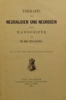 view Therapie von Neuralgien und Neurosen durch Handgriffe / von Dr. med. Otto Naegeli. Mit 18 in den Text gedruckten Holzschnitten.