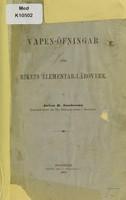 view Vapen-öfningar för rikets elementar-läroverk / af Anton B. Santesson.