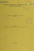 view Studies in spirillum obermeierei and related organisms / Frederick G. Novy and R.E. Knapp.