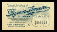 view Bynin-Amara : analogous to Easton's Syrup, but much easier of assimilation : July 1904.