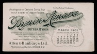 view Bynin-Amara : analogous to Easton's Syrup, but much easier of assimilation : March 1905.