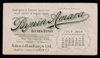 view Bynin-Amara : analogous to Easton's Syrup, but much easier of assimilation : July 1905.