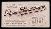 view Byno-Phosphates : a nutritive and digestive tonic for delicate and anaemic children : January 1906.