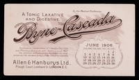 view Byno-Cascada : a tonic laxative and digestive : June 1906.