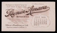 view Bynin-Amara : analogous to Easton's Syrup, but much easier of assimilation : July 1906.