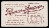 view Bynin-Amara : analogous to Easton's Syrup, but much easier of assimilation : July 1907.