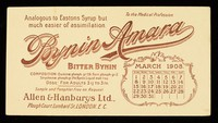 view Bynin-Amara : analogous to Eastons Syrup but much easier of assimilation : March 1908.