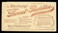 "view The ""Allenburys"" throat-pastilles : efficient and palatable : November 1908."